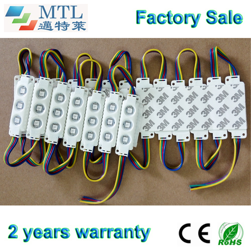 5050 RGB LED module 12V, Back lighting for channel letters / signs / light Boxes, 200PCS/lot, IP65 waterproof, Factory Wholesale