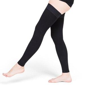 Image 3 - Thigh High Compression Stockings for Men & Women 30 40 mmHg Support Edema Varicose Veins Travel Pregnancy Medical Nursing Travel