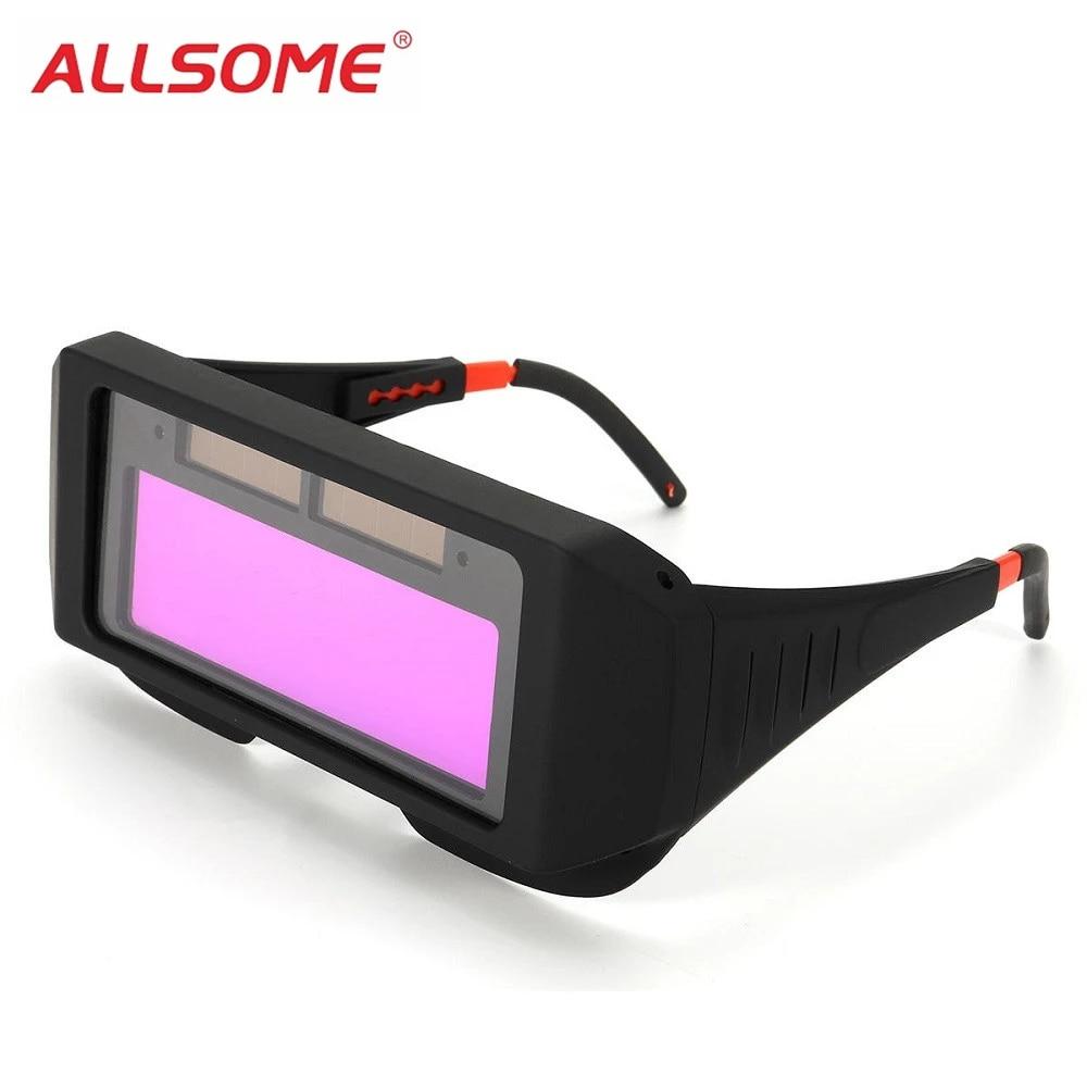Anti Glare Auto Solar Darkening LCD Welding Eye Protection Glasses Goggles Kit