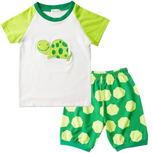 Summer Kids  Pajamas Boys Cute Little Turtle Clothes Baby Toddler Set