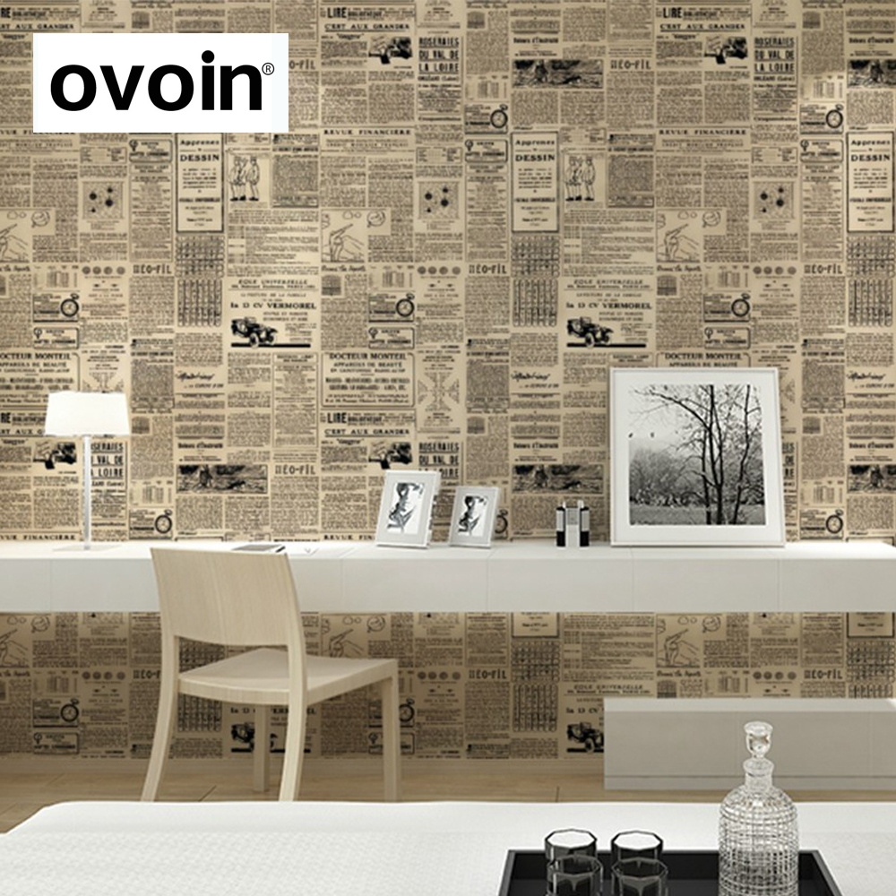 Vintage english letter wall paper newspaper wallpaper old for Wallpaper home vintage