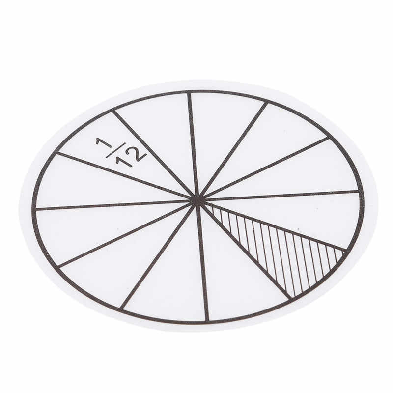 12 Stuks Plastic Genummerd Fracties Cirkels Math Chips Wiskunde Aantal Speelgoed Math Speelgoed