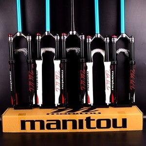"""Image 1 - 1420g Manitou R7 MRD אופניים גז מזלג אופני הרים 26 אינץ 27.5 """"ידני שלט רחוק מנעול 100mm נסיעות השעיה מזלג 2020"""