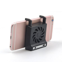Ponsel Stand Holder Kipas Angin 2 In 1 Universal Radiator Smartphone Charger Kipas Pendingin Gunung Permainan Handle Desktop Pemegang(China)