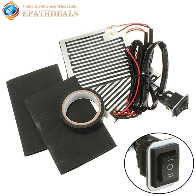 Universal 12V Motorcycle Motorbike Handlebar Hand Heated Grips Handle Heater Warmer Wrap Kit Pads 3 Position Switch