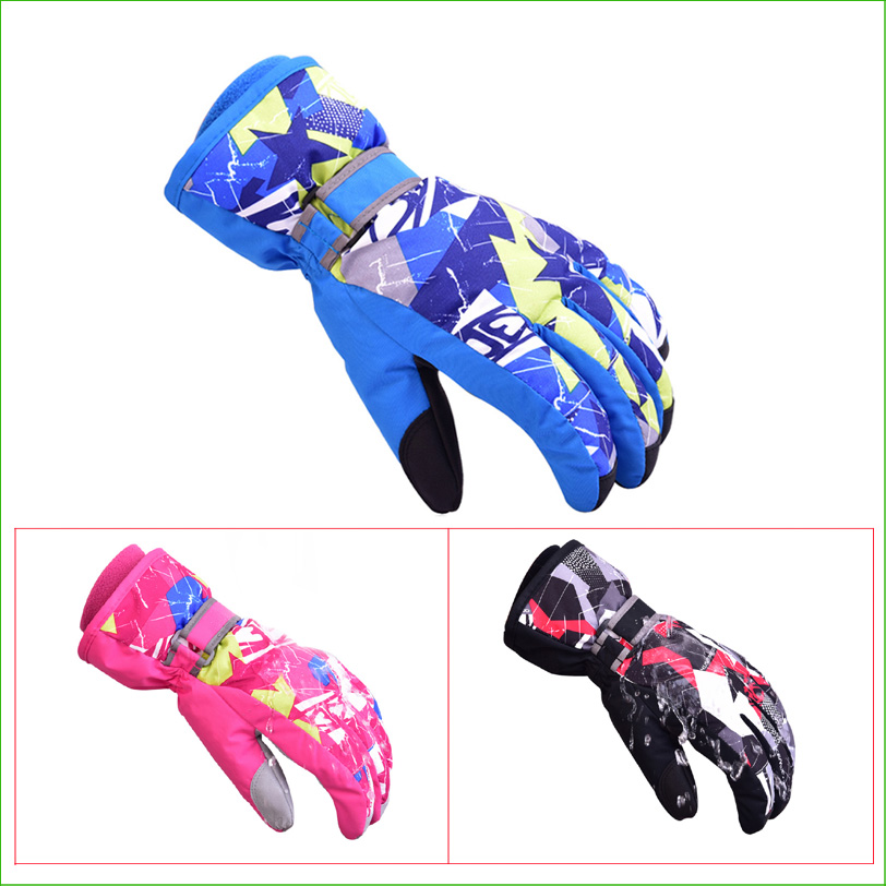 SG10 Winter Children's Waterproof Snow Gloves Outdoor Kid's Skiing gloves Snowboarding Gloves For the Children