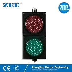 8 zoll 200mm LED Verkehrs Licht Rot Grün Verkehrs Signale 220 V LED Licht