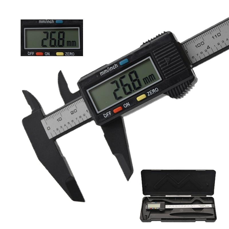 "Digital display 150 mm 6 ""LCD digitale elektronische carbon faser messschieber mikrometer mess werkzeug"
