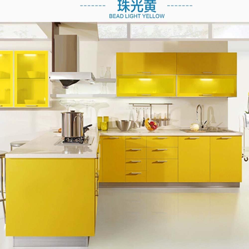 Kitchen Cabinet Self adhesive Wallpaper Sticker Wardrobe Furniture ...