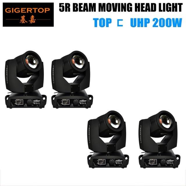 4 Pack 200W Beam Moving Head Light Import Original 5R Beam 17 Static Gobos 14 Color Linear Dimming Beam Effect IP20 TIPTOP Light