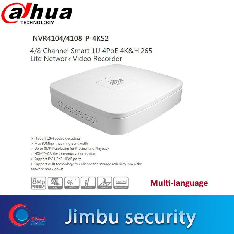 Dahua poe nvr 4CH rejestrator wideo NVR4104 P 4KS2/NVR4104 P 4KS2 4 kanałowy inteligentny 1U 4PoE 4 K i H.265 Lite sieciowy do 8MP Resoluti w Rejestratory wideo do nadzoru od Bezpieczeństwo i ochrona na  Grupa 1