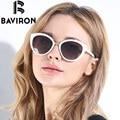 BAVIRON Nueva Moda Cat Eye Sunglasses Mujeres Gradiente Marco Blanco Polarizado UV400 Gafas de Sol de Conducción Gafas de Aluminio Caja de 8527