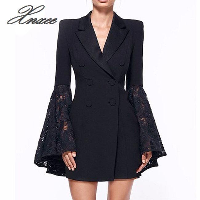 Xnxee Blazer Women Outwear Suits Coat Jacket Business Female Elegant Double-Breast Winter