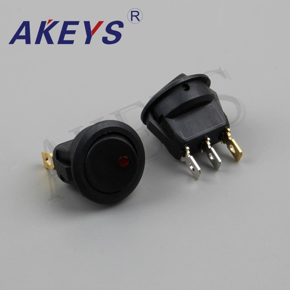 Купить с кэшбэком 5PCS KCD1-202-3P 3PINS 12V Cat - eye round Automobile modified rocker switch