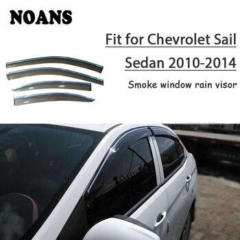 NOANS 4pcs For Chevrolet Sail Sedan 2014 2013 2012 2011 2010  Accessories Auto Car Windows Sun Rain Visor Door Shield Trim