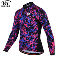 KIDITOKT Men S Summer Cycling Clothing Wear Pro Cycling Jerseys Long Sleeve MTB Outdoor Sports Bicycle