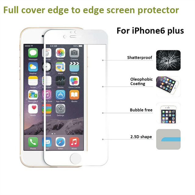 Full Covered 0.26mm 9H Tempered Glass For Apple iphone 6 plus 6S plus s 5.5 inch Full Covering Premium Screen Protector