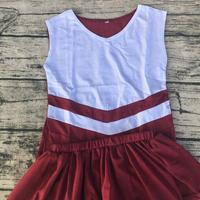 boutique style children clothing custom sublimation high quality sleeveless cheerleading uniform factory direct