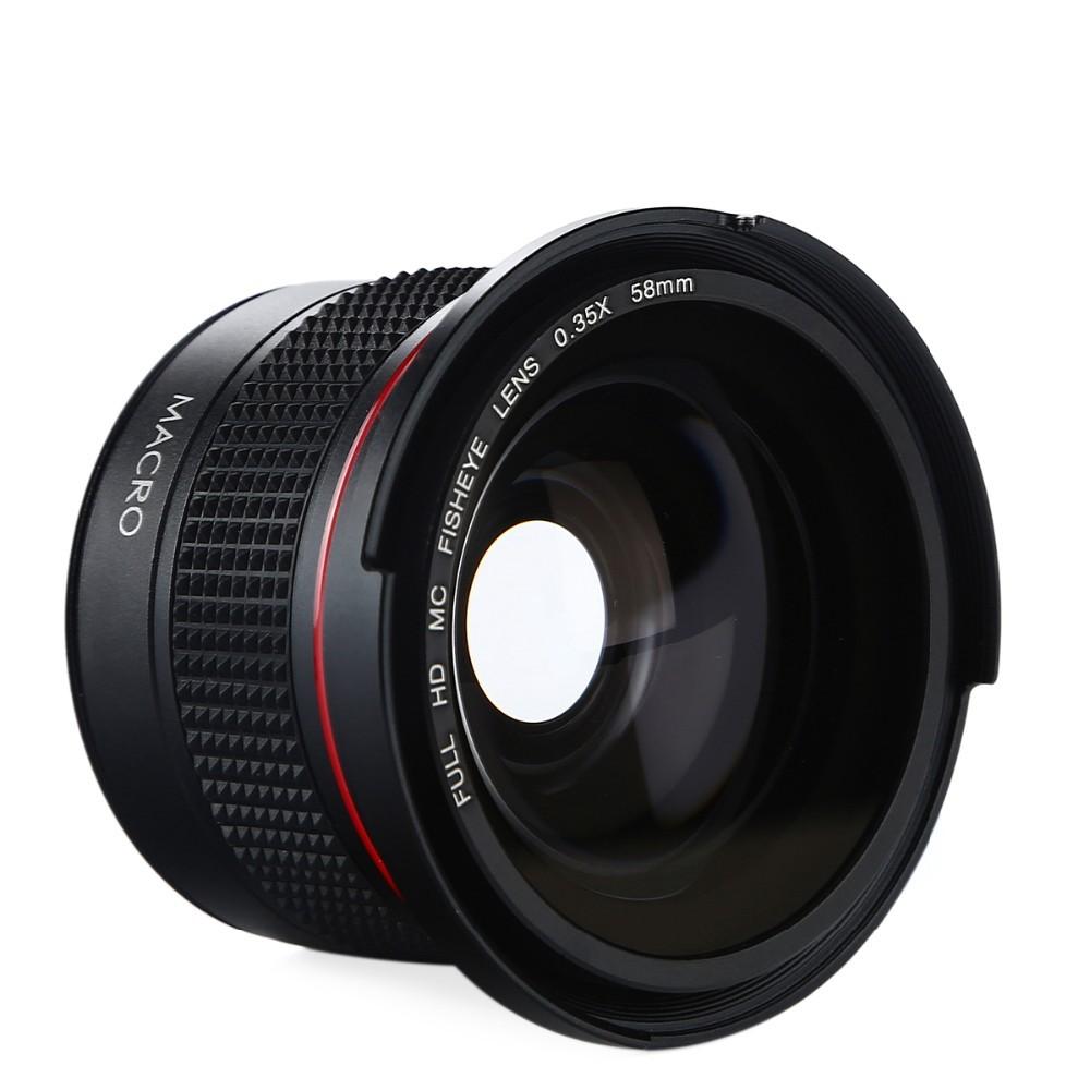 K&F CONCEPT HD 0.35x 58mm/52mm Fisheye Macro Wide Angle Lens for Canon EOS 700D 650D 600D 550D Rebel T5i T4i T3i T2i DSLR Camera 6