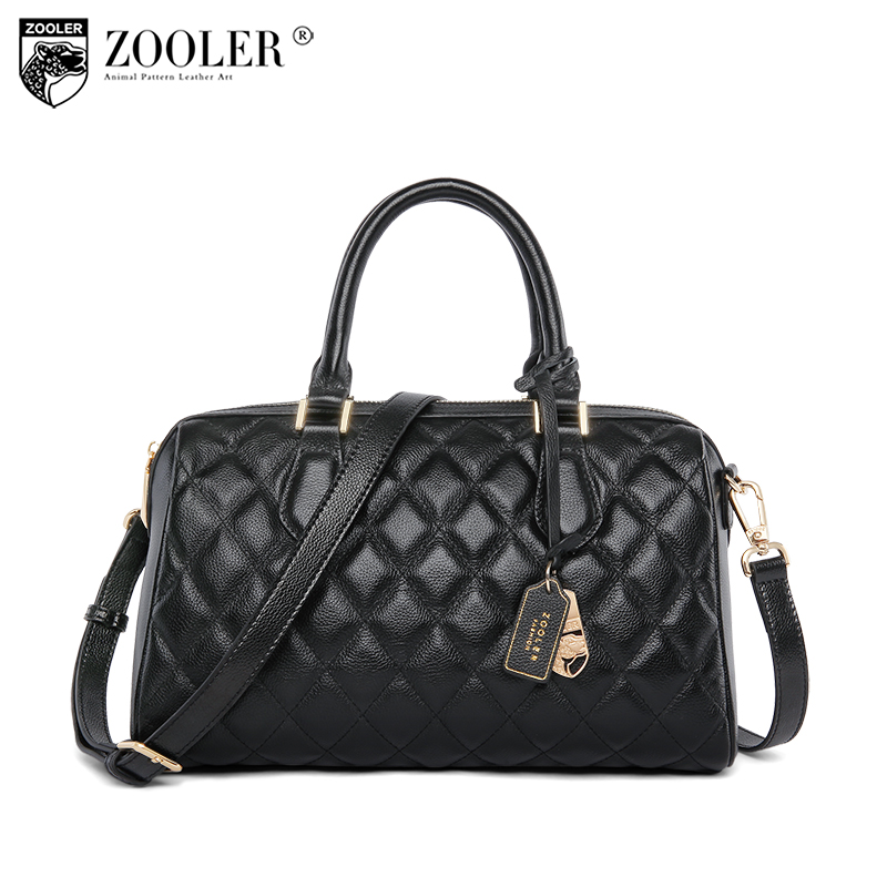 ZOOLER hot leather bags handbags women famous brands 2018 woman handbag Genuine leather Bags tote boston Bolsas #b196 zooler hot bags handbags women famous brands 2018 genuine leather woman bag shoulder bags cowhide tote luxury high quality 110