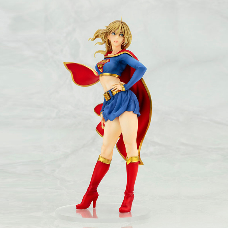 Free Shipping Sexy 8 DC Hero Justice League Super Girl Boxed 21cm PVC Action Figure Collection Model Doll Toys Gift new hot 18cm super hero justice league wonder woman action figure toys collection doll christmas gift with box