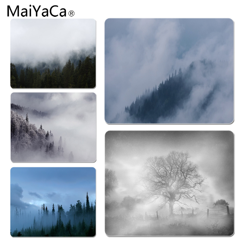 MaiYaCa Misty Tree Customized laptop Gaming mouse pad Size for 25X29cm Gaming Mousepads