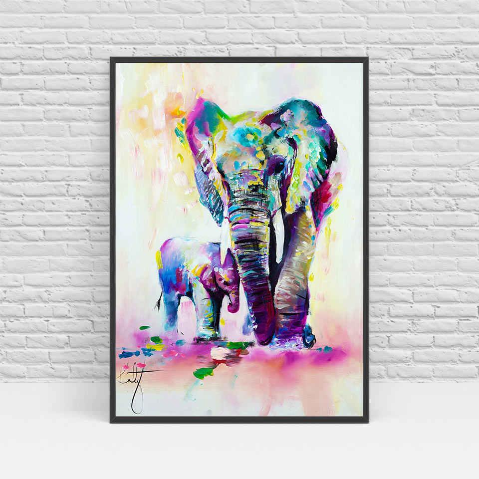 الحديث الشمال الفيل قماش الفن HD طباعة ملصق جدار صور للمنزل الديكور اللوحة لا الإطار