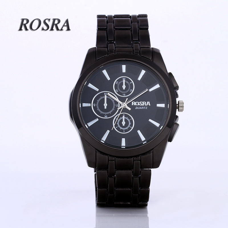Mens Watches Top Brand Luxury Hour Black Round Dial Stainless Steel Wrist Watch Men relogio masculino montre homme saat relogioMens Watches Top Brand Luxury Hour Black Round Dial Stainless Steel Wrist Watch Men relogio masculino montre homme saat relogio