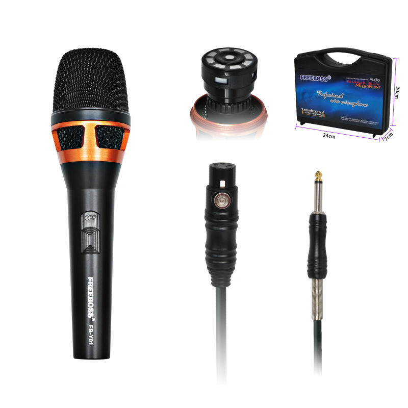 freeboss fb y01 large diaphragm cardioid unidirectional vocal dynamic microphone in microphones. Black Bedroom Furniture Sets. Home Design Ideas