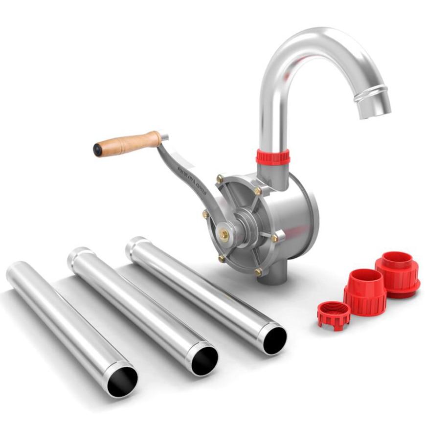 Hand Pump Manual Oil Pump Suction Diesel Barrel Refueling Aluminum Alloy