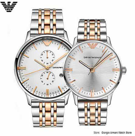 Original Armani watch, simple fashion men&women couple quartz watch AR0399/AR1603 crystal watch AR0399/AR1603 watch crystal