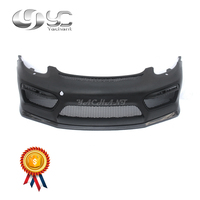 Car-Styling Portion Carbon Fiber Front Bumper Fit For 14-16 Cayman Boxster 981 GT4 Style Front Bumper FRP w CF Front Lip