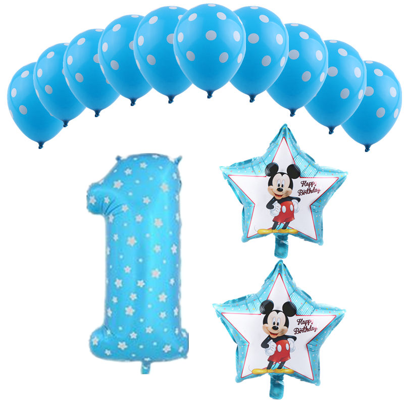 TSZWJ  X-093   Happy birthday party decoration balloon child birthday 1 year old latex balloon set high quality wholesale