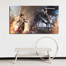 Assassins Creed Black Flag Canvas Painting Poster Prints Marble Wall Art Painting Decorative Picture Modern Home Decor Wallpaper assassins creed leap of faith canvas painting posters prints marble wall art painting decorative picture modern home decoration