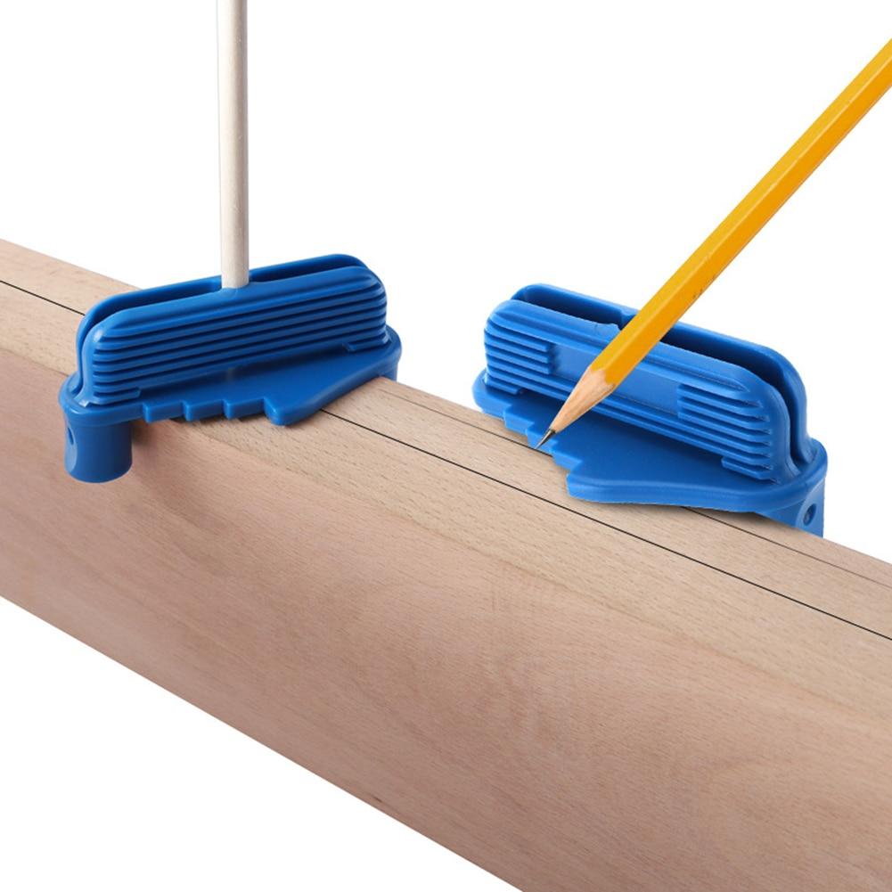 Woodworking Center Finder Line Scriber With Magnet Inch Center Offset Line Marking Gauge Plastic Center Scribe Marking Tool