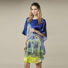 Шелковое атласное женское платье новое Desigual женское платье с принтом удобное домашнее платье