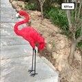 Новая модель красного фламинго пена и меха длинные ноги Фламинго модель подарок около 70 см xf1025