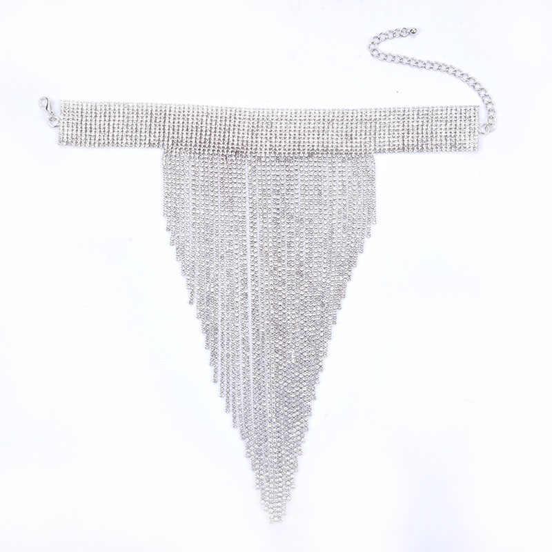 Statement LONG Big Large TASSEL Fringe Collar Bib Choker Necklace Goth Punk