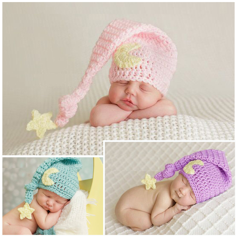 2018 Cute Toddler Infant Knitted Baby Hat Newborn Photography Props Baby Boys Girls Accessories Baby Beanie Cap Photo Props