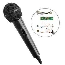 Modulação de frequência fm sem fio, de alta qualidade, microfone, ensino eletrônico, kits diy aug3