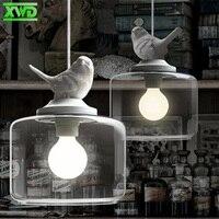 Modern Glass Birds Pendant Lamp E27 Lamp Holder 110 240V Coffee House Dining Hall Foyer Indoor