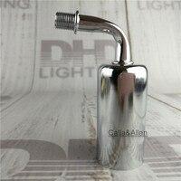 E14 duvar lambası tutucu of ücretsiz nakliye örnek sipariş siyah/gümüş demir kapak plastik ışık soket ile 65mm köşe kol lamba baz