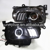 For Jeep for Cherokee LED Head Light Angel Eyes 2014 2015 year with DRL function for Mustang style LF