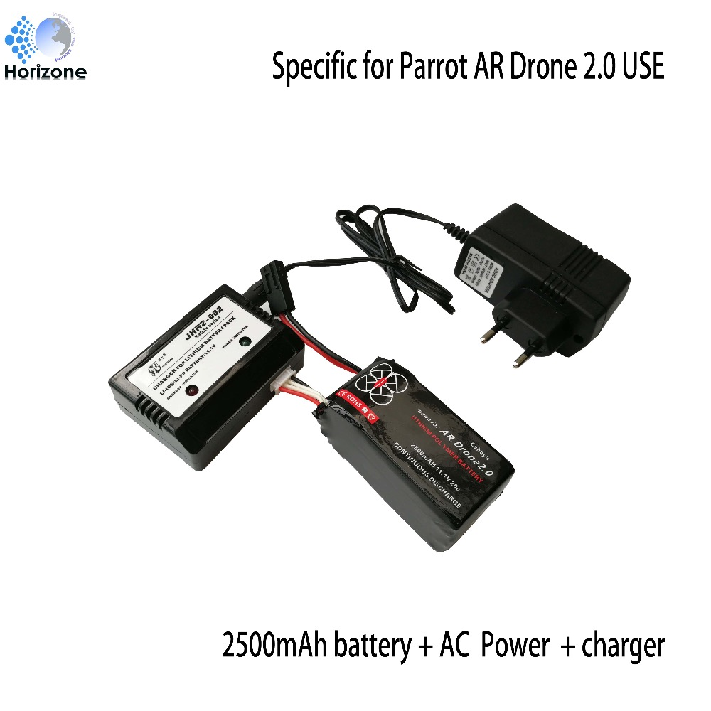 все цены на 2500mAh 11.1V 20C 27.75Wh Li-Polymer Battery and balance charger  for Parrot AR.Drone2.0 Quadcopter Drone battery онлайн