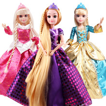 6 Models Fashion Princess Dolls Cinderella/Snow Whit/Mermaid/Rapunzel/Sleeping Beauty Doll for Girls Gift Best Friends Toys DIY(China)