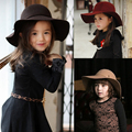 Winter Children Girls Artificial Wool Floppy Hats Wide Brim Sun Beach Caps Free Shipping SDXB-009