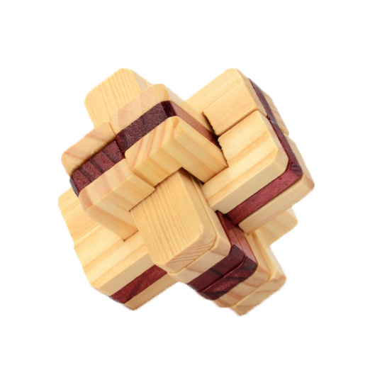 Chanycore Baby Learning Educational Wooden Toys 3D Puzzle Kong Ming Luban Lock Cube Brai ...
