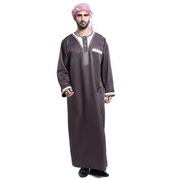 4354fb18e Chica musulmana traje de manga larga sólido Arabia Saudita islámico  musulmanes Dubai traje para ...