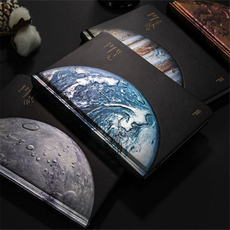 """""""Planet Dream"""" Hard Cover Lined Papers Notebook Journal Diary Beautiful Universe Notepad Boys Mens Stationery Gift"""