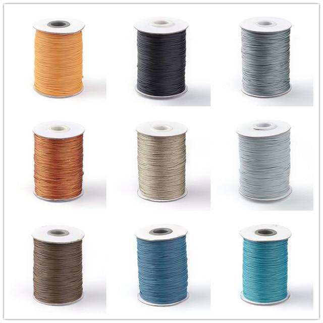 Pandahall environ 88 yards/rouleau 1.0mm couleur bleue série coréenne ciré Polyester cordon perles chaîne Bracelet collier AccessoriesF8